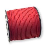 Cordón de antelina 2.5 mm rojo granate  (1 metro)
