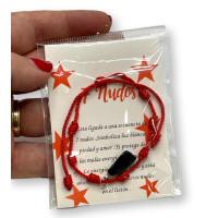 Pulsera roja de los 7 nudos con puño de fatima ( protege de las malas energias)