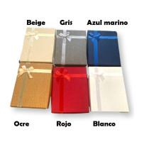 Caja grande con lazo (escoge color) - Cajita rectangular grande 160x120x35 mm