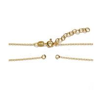 Gargantilla dorada cadena abierta para entrepieza Plata de Ley baño dorado - Eslabones de 1 mm- 34+4 cm