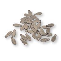 Chapita oval acero (20 uds)- Colgante acero inoxidable 10x4 mm