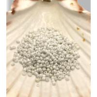 Rocalla cristal 3 mm color blanco mate (20 gramos)