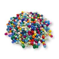 Rocalla cristal 3 mm color mix multi (20 gramos)