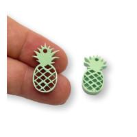Plexy verde pastel - Colgante piña tropical 18 mm, int 1.2 mm