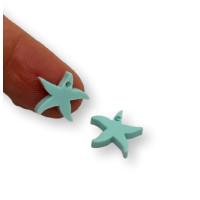 Plexy turquesa - Colgante estrella de mar peque 15 mm, int 1.2 mm