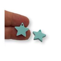 Plexy turquesa - Colgante estrella 15 mm, int 1.2 mm