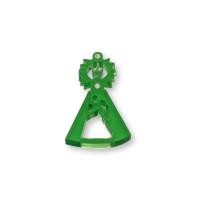 Plexy verde - Entrepieza y colgante Virgen de la Asunción 25x15  mm