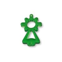 Plexy verde - Entrepieza Virgen del Pilar 25x13 mm