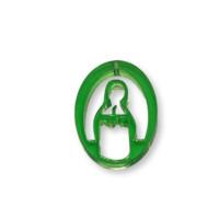 Plexy verde - Entrepieza y colgante Virgen Maria 25 mm