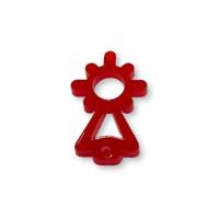 Plexy rojo - Entrepieza Virgen del Pilar 25x13 mm