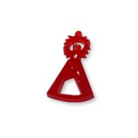 Plexy rojo - Entrepieza y colgante Virgen de la Asunción 25x15  mm