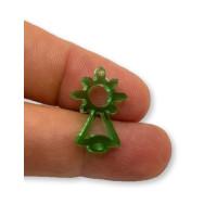 Plexy verde - Entrepieza Virgen del Covadonga 20x10 mm