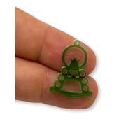 Plexy verde - Colgante y entrepieza Virgen del Rocio 25x17 mm