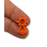 Plexy naranja - Entrepieza Virgen del Covadonga 20x10  mm