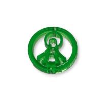 Plexy verde - Entrepieza circulo Virgen de la Milagrosa 20 mm