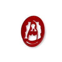 Plexy rojo - Entrepieza y colgante Virgen de Guadalupe 25 mm