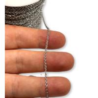 Cadena finita de acero inoxidable eslabon 1x0.4 mm  - 1 metro