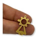 Plexy dorado - Entrepieza Virgen del Pilar 25x13 mm