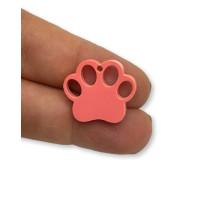 Plexy frambuesa - Colgante huella mascota 20 mm, int 1.2 mm