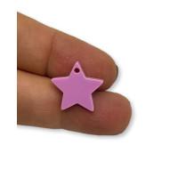 Plexy lavanda - Colgante estrella 15 mm, int 1.2 mm