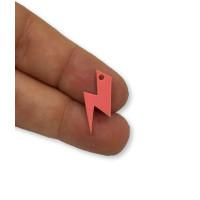 Plexy frambuesa - Colgante rayo 20 mm, int 1.5 mm