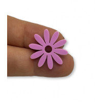 Plexy lavanda - Colgante flor petalos largos  21 mm, int 2 mm