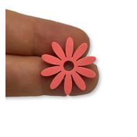 Plexy frambuesa - Colgante flor petalos largos  21 mm, int 2 mm