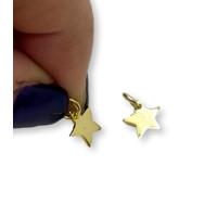 Colgante estrella mini Plata de Ley baño de oro 8x8 mm