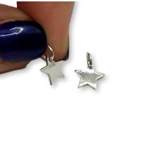 Colgante estrella mini Plata de Ley lisa  8x8 mm