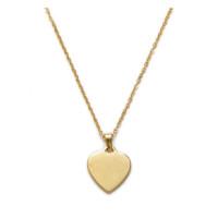 Cadena gargantilla acero dorado 45 cm con corazon 17 mm ( grabable)