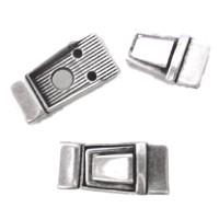 Cierre ZAMAK baño plata iman 32x15 mm para tira 10 mm