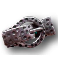 Hebilla cierre magnetico baño plata 45x28 mm, int 15 mm