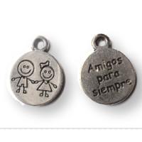 Colgante ZAMAK  medalla niños de la mano 19x15 mm