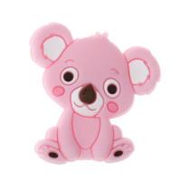 Koala sentado de silicona 27x28 mm- Color rosa bebe