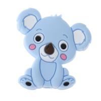 Koala sentado de silicona 27x28 mm- Color azul bebe