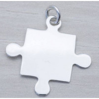 Colgante Plata de Ley - Puzzle 24x20 mm ( grabar)