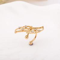 Pendiente de Cartilago earcuff - Alas mariposa dorada con brillantitos - 1 ud