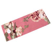 Turbante diadema estampada mujer accesorio pelo con botones para gomas mascarillas (salvaorejas)- Estampado rosa