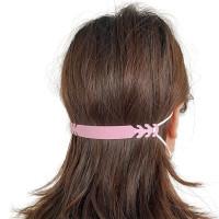 Accesorio de poliuretano rosa salvaorejas 15x1.5 cm cm para ajuste de mascarillas