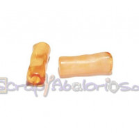 Tubo hueco aguas blancas 18x6 mm . Int 3 mm- Color Naranja
