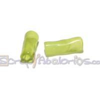 Tubo hueco aguas blancas 18x6 mm . Int 3 mm- Color Verde pistacho