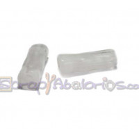 Tubo hueco aguas blancas 18x6 mm . Int 3 mm- Color Blanco