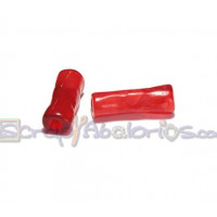 Tubo hueco aguas blancas 18x6 mm . Int 3 mm- Color Rojo