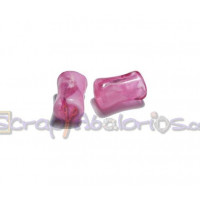 Tubo hueco aguas blancas 10x6 mm  Int 3 mm - Color Rosa