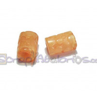 Tubo hueco aguas blancas topos 13x8 mm  Int 3 mm - Color naranja