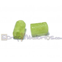 Tubo hueco aguas blancas topos 13x8 mm  Int 3 mm - Color verde