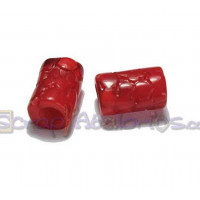 Tubo hueco aguas blancas topos 13x8 mm  Int 3 mm - Color rojo