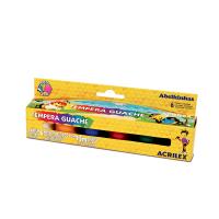Pinturas tempera guache acrilex 6 colores 15 mL