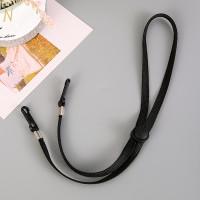 Cuelgamascarillas cordon 7 mm  nylon negro - Largo  70 cm ajustables