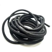 Cordón corcho cosido redondo 5 mm. Color Negro - 1 metro